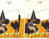 1950s Hallmark Halloween Die Cut Place Cards-4