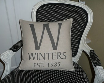 Monogram Pillow Cover - Personalize At No Extra Cost