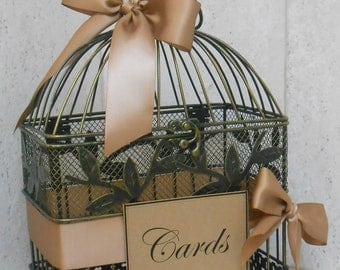 Birdcage Wedding Card Holder / Wedding Card Box / Small Birdcage / Wishes Birdcage / Birdcage Wedding Decor