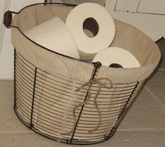Items similar to farmhouse wire basket organize for Bathroom accessories baskets