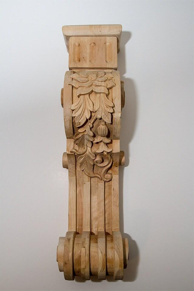 Solid Oak Shelf Or Fireplace Mantel Corbels