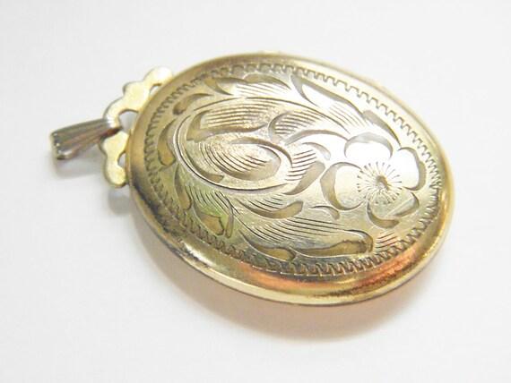 Vintage Art Nouveau Gold Filled Locket, signed Ladye Fayre