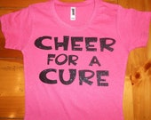 Custom Cheer for a Cure Breast Cancer Awareness Sparkle T-shirt