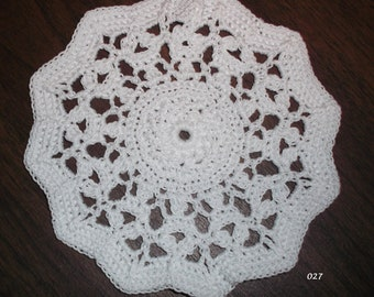 Crocheted White Doily (Item 027)