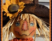 Primitive Scarecrow Pattern, Fall Make Do pattern,  pdf E pattern, PDF instant download pattern, Digital download pattern, sewing pattern,