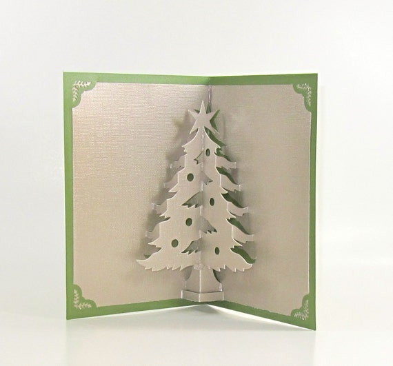 Christmas tree 3d pop up greeting card home d cor handmade for 3d christmas cards to make at home
