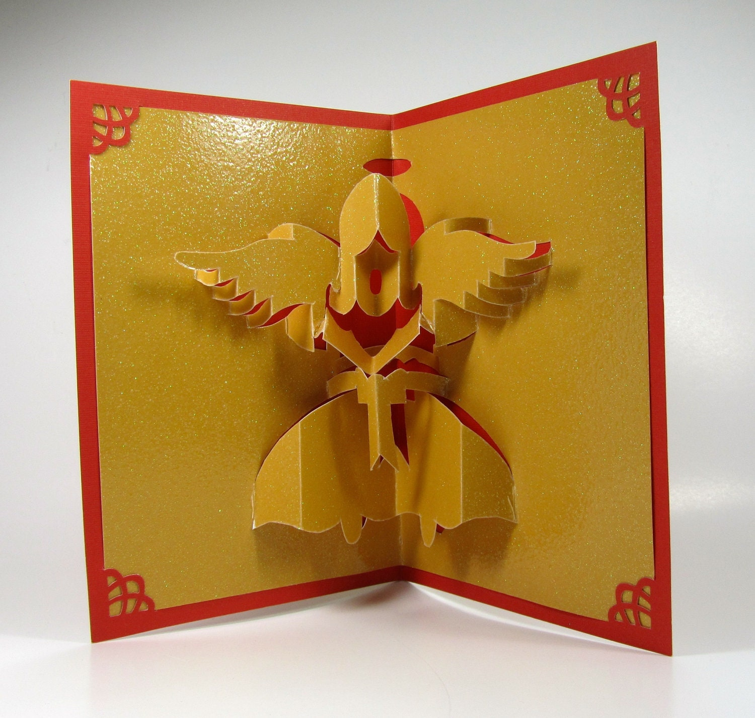 CHRISTMAS ANGEL 3D Pop Up Greeting Card Home Décor Handmade