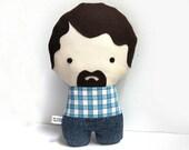 Handmade Personalized plush doll. Plush doll. Custom doll. Customize.