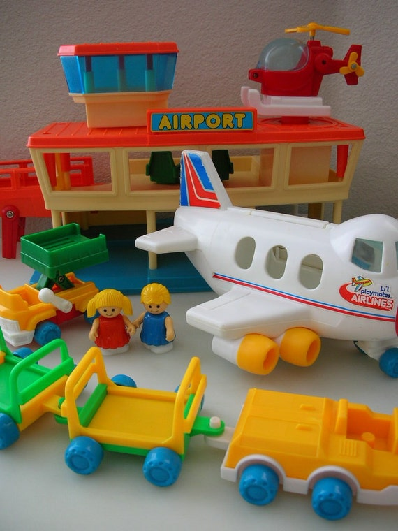 1984 Playmates Airport Set Playworld Toys Airport