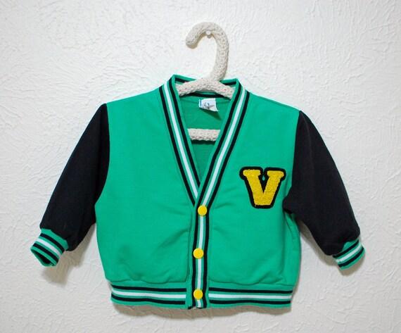 varsity letter sweater vintage boys 18 months
