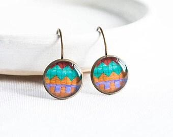 Lever back earrings ethnic jewelry