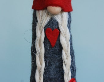 Gnome a Scandinavian Tomte handmade in all natural materials
