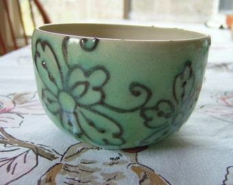 Thrown Small Bowl - Green