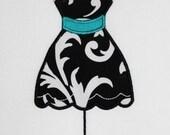 Girly Paris Dress Form Embroidery Design Machine Applique
