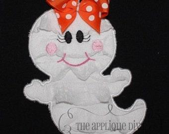 Halloween Girl Ghost Digital Embroidery Design Machine Applique