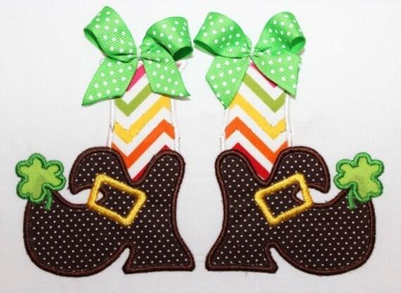 St Patrick's Day Leprechaun Feet Embroidery Design Machine Applique