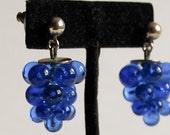 SALE Gorgeous Grape Dangle Post Earrings