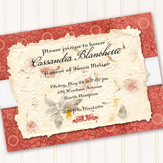 bridal shower invitations, coral birthday party invitations, coral 16th birthday invitations, oral retirement party invitations