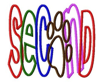 SECOND - Paw Print - Applique - Machine Embroidery Design - 12 sizes