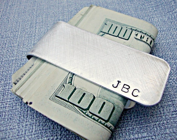 Personalized Money Clip - Custom Money Clip - Hand Stamped Money Clip - Tenth Anniversary Gift - 10 Anniversary -Valentines Day Gift for Him