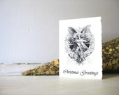 Angel Christmas Cards - 5x7 Note Cards - Set of 6 - Christmas Greetings, Holiday