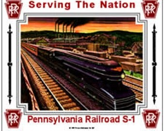 Pennsylvania Railroad PRR S-1 Tin Sign