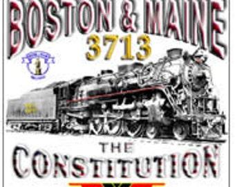 RAILROAD TIN SIGN - Boston & Maine