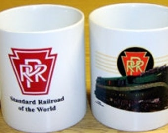 RAILROAD COFFEE MUG  - Pennsylvania Railroad Green gg1