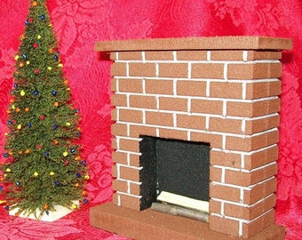 FIREPLACE  / Miniature /  Great for Weddings, Fairy Gardens, Doll house and Diorama Decorating