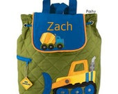 Personalized Backpack or Baby Diaper Bag Stephen Joseph Quilted Construction