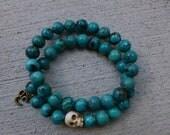 Unisex Natural Turquoise Bracelet Stack