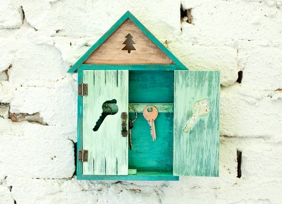 Wooden Key Box Holder Wardrobe, Boxes, shabby chick, rustic