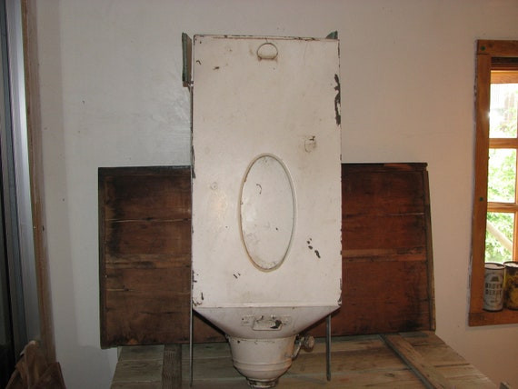 vintage metal flour bin for hoosier cabinet