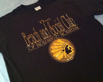 Vintage 1980's shiny metallic Indianhead Mountain t-shirt, large