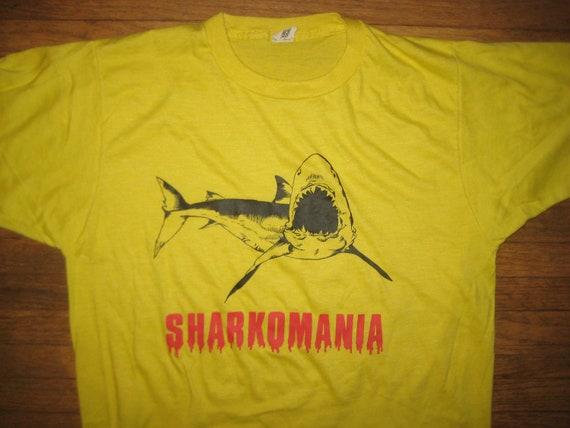 1980's geeky Shark Hulk Hogan parody t-shirt, Screen Stars, M-L