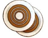 Midwinter Stonehenge EARTH Dinner Plates, set of seven