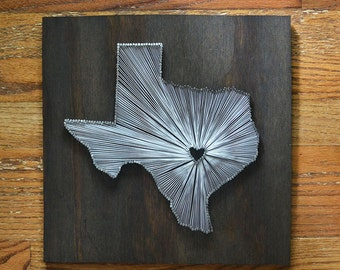 Stained Texas State String Art - Austin, Texas - Stained Nail Art - University of Texas Longhorns