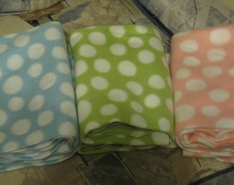 Take your Pick - Blue, Green or Pink Fleece baby blanket