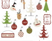 Christmas Clip Art - Set 1 -- INSTANT DOWNLOAD