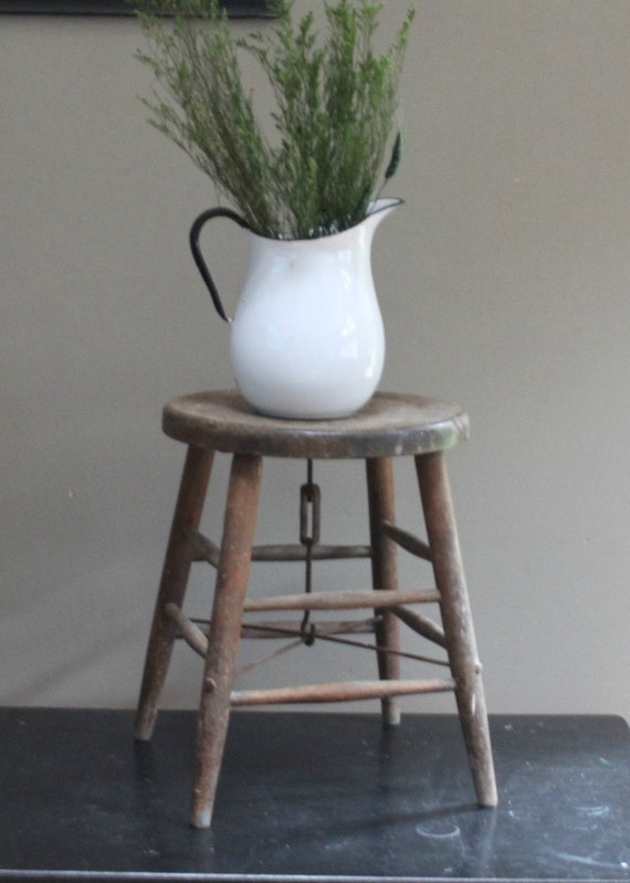Antique Wood Milking Stool/reserved for loren