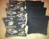 Baltimore Ravens Cornhole Bags Set of 8 ACA Certified