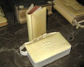 Antique French Celluloid Bible Prayer Book with Case 1920's
