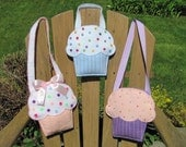 Little Girls Cupcake Purse Pattern Felt Purse Pattern Cupcake Gift Bag Party Favor PDF Tutorial How To ePattern