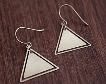 Triangle Cutout Earrings