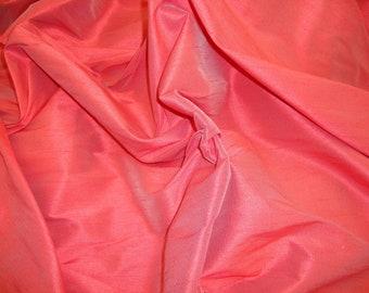 Cranberry Shantung Dupioni Faux Silk two tone fabric per yard