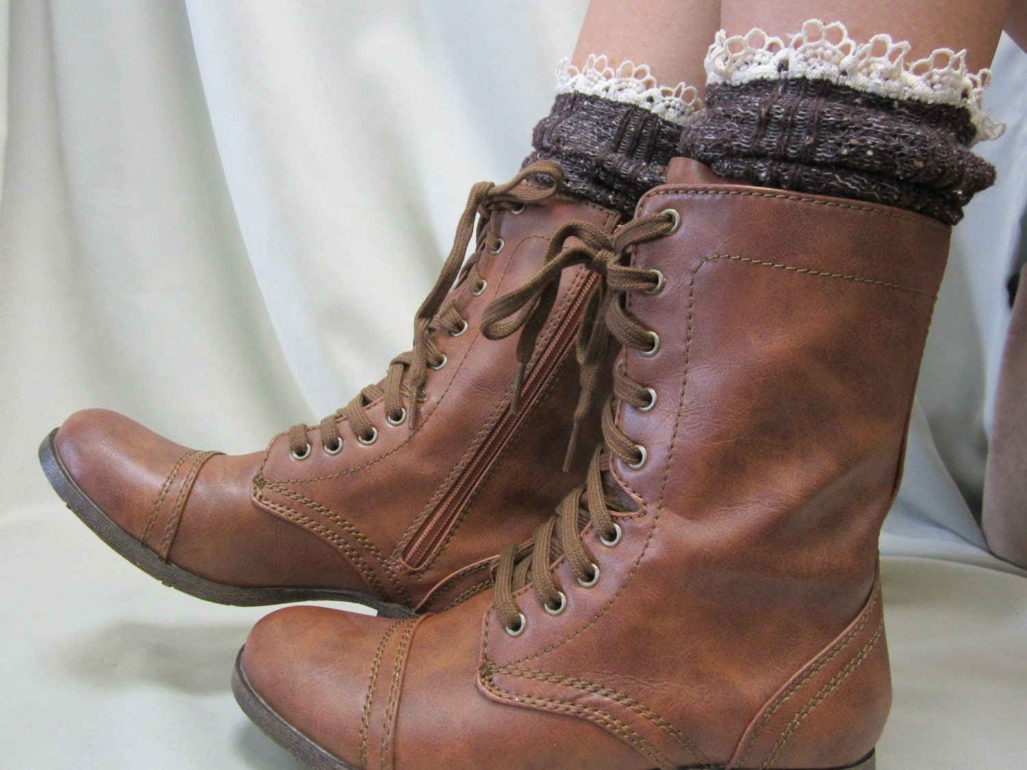 Combat Boots Without Heel - Boot Hto