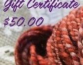 Gift Certificate - 50 Dollars
