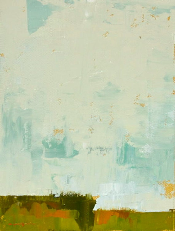 "Field 908"" Original oil  on canvas 6"" x 8"""