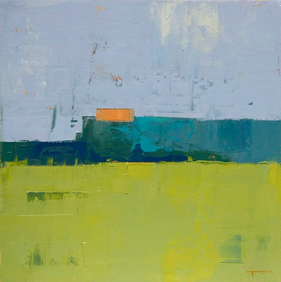 "Field 910 study"" Original oil  on canvas 8"" x 8"""