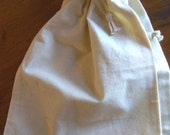 "2 Large Thick Pure Cotton Muslin Bags, 8""x10"" - Unbleached, perfect for straining tomatoes, mulling spices and more"